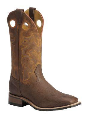 Boulet Rider Sole Cowboy Boots - Square Toe, Chestnut, hi-res
