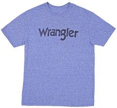 Wrangler Men's Royal Brand Logo Screen Short Sleeve Tee , Royal, hi-res