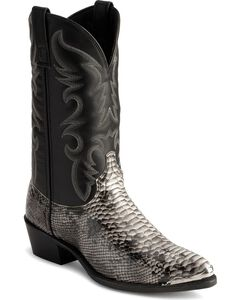 Laredo Snake Print Cowboy Boots, , hi-res