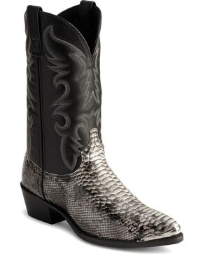 Laredo Snake Print Cowboy Boots, Natural, hi-res