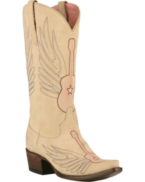 Lane Women's Cream Crossroads Western Boots - Snip Toe , Cream, hi-res