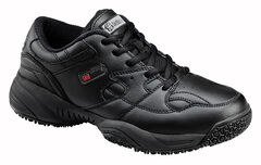 SkidBuster Men's Non-Slip Leather Work Shoes, , hi-res