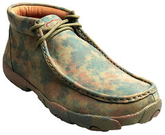 Twisted X Women's Camo Leather Driving Mocs, , hi-res
