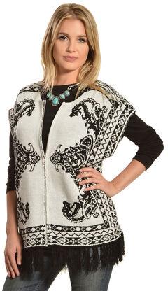 Flying Tomato Women's Fringe Sweater Vest, , hi-res