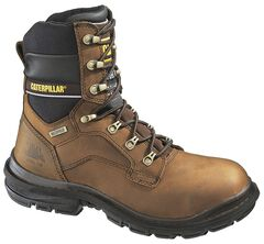 "Caterpillar 8"" Generator Waterproof & Insulated Lace-Up Work Boots - Steel Toe, , hi-res"
