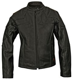 Milwaukee Motorcycle Studded Cross Scooter Leather Jacket - Reg, , hi-res