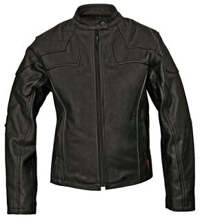 Milwaukee Motorcycle Studded Cross Scooter Leather Jacket - Reg, Black, hi-res