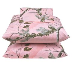 Realtree All Purpose Pink Queen Sheet Set, , hi-res