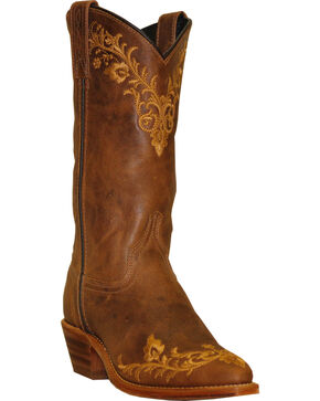 Abilene Boots Women's Embroidered Western Boots - Pointed Toe, Tan, hi-res