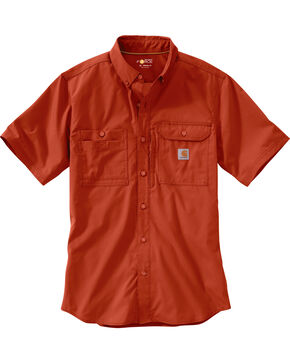 Carhartt Men's Force Ridgefield Short Sleeve Solid Shirt, , hi-res