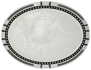 Montana Silversmiths New Traditions Four Directions Belt Buckle, Silver, hi-res