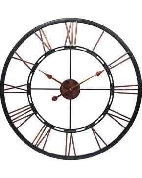 """Infinity Instruments 28"""" Metal Fusion Wall Clock, Black, hi-res"""
