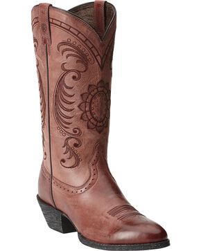 Ariat Magnolia Boots - Round Toe, Brown, hi-res