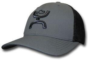 HOOey Men's Chi Grey & Black Snapback Trucker Hat , Grey, hi-res