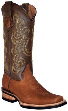 Ferrini Men's French Calf Leather Cowboy Boots - Square Toe, , hi-res