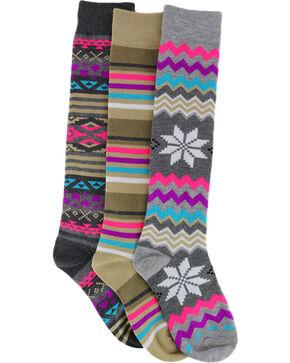 La De Da Girls' Striped and Patterned Knee High Socks , No Color, hi-res