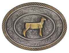 Montana Silversmiths Prize Ewe Classic Impressions Attitude Belt Buckle, Multi, hi-res