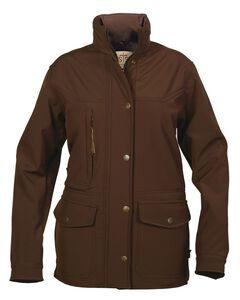 STS Ranchwear Women's Brazos Softshell Brown Barn Jacket, , hi-res