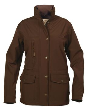 STS Ranchwear Brazos Softshell Jacket - Plus, Brown, hi-res