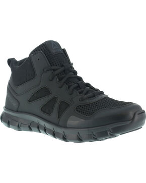 Reebok Women's Sublite Cushion Tactical Mid Boots, Black, hi-res