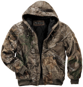 Dri Duck Men's Cheyenne Realtree Xtra Camo Hooded Work Jacket - Tall (XLT - 2XLT), Camouflage, hi-res