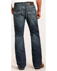 Rock & Roll Cowboy Men's Abstract Embroidery Reflex Double Barrel Boot Cut Jeans, , hi-res