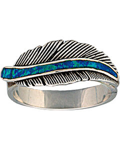 """Montana Silversmiths """"The Storyteller"""" Feather Ring, , hi-res"""