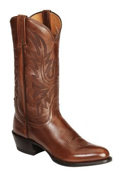 Lucchese Handcrafted Lonestar Calf Cowboy Boots - Medium Toe, , hi-res