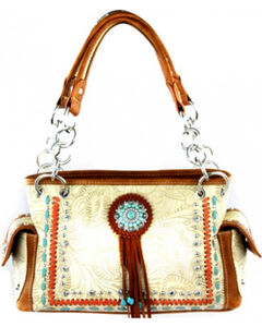 Montana West Concho Collection Satchel Bag, , hi-res
