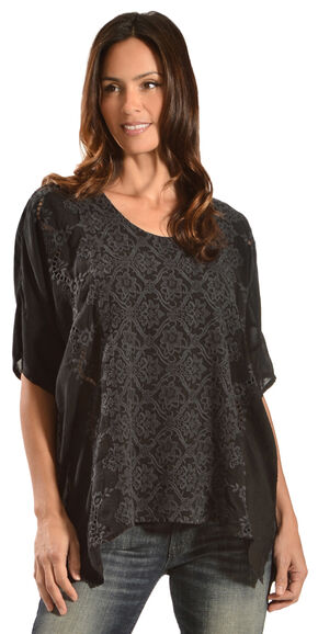 Johnny Was Women's Rikki Poncho, Black, hi-res