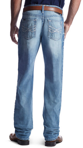 Ariat Men's M3 Mason Wayfarer Straight Leg Jeans, Light Blue, hi-res