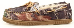 Double Barrel Youth Boys' Camo Moccasins, Camouflage, hi-res