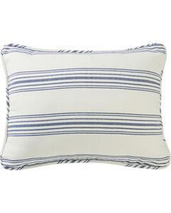 HiEnd Accents Prescott Navy Stripe Pillow Sham Set - King, Navy, hi-res