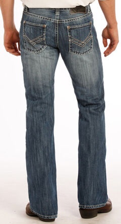 "Rock and Roll Cowboy Raised Denim ""V"" Pistol Jeans - Boot Cut , , hi-res"