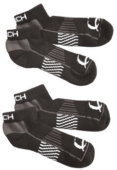 Cinch Men's Black Athletic Ankle Socks (2-Pack), , hi-res