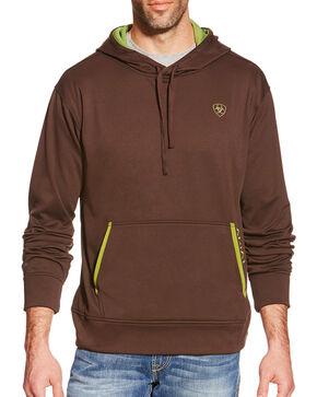 Ariat Men's Tek Fleece Hoodie 2.0, Brown, hi-res