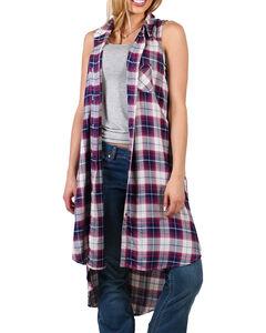 Shyanne Women's Plaid Pocket Fashion Duster, , hi-res