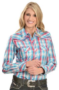 Ariat Women's Wishful Plaid Snap Shirt, , hi-res