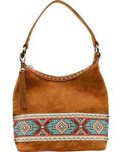 Blazin Roxx Shania Collection Aztec Ribbon Hobo Bag, , hi-res