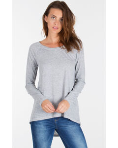 Z Supply Women's Grey Home Run Baseball Tee , , hi-res