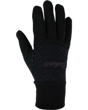 Carhartt Women's Fleece & Knit Touch Screen Gloves, Black, hi-res