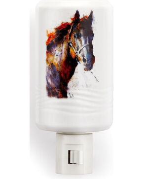 Big Sky Carvers Poncho Horse Nightlight, White, hi-res