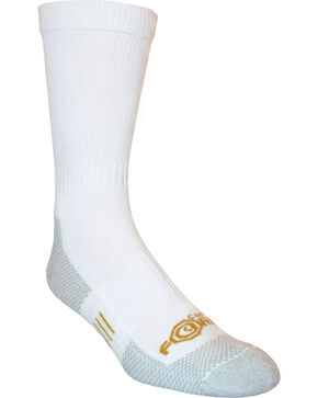 Carhartt Force® White Work Crew Socks, White, hi-res