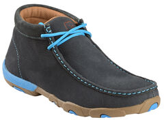 Twisted X Women's Softy Blue Lace-Up Driving Mocs, , hi-res
