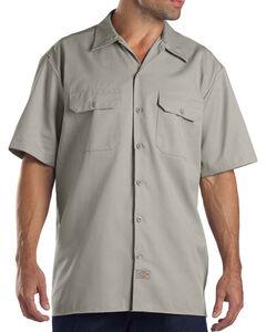 Dickies Men's Short Sleeve Two Pocket Hanging Work Shirt, , hi-res