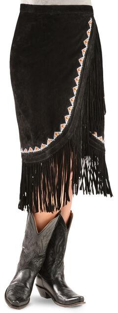 Kobler Leather Women's Yuma Fringe Suede Skirt, , hi-res
