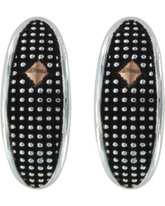 Montana Silversmiths Crosscut Copper Diamond Marquise Half Hoop Earrings , , hi-res