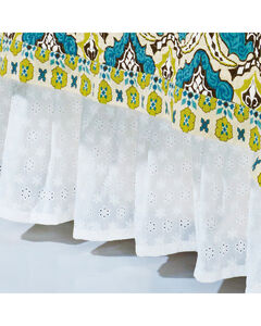 HiEnd Accents Eyelet Queen Bed Skirt , , hi-res