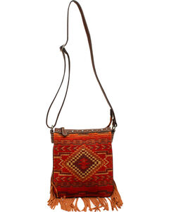 Blazin Roxx Women's Indian Blanket Messenger Bag, , hi-res