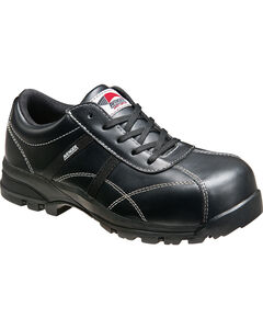 Avenger Women's Black Oxford Work Shoes - Composite Toe, , hi-res
